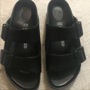 Birkenstock plastic black sandals new